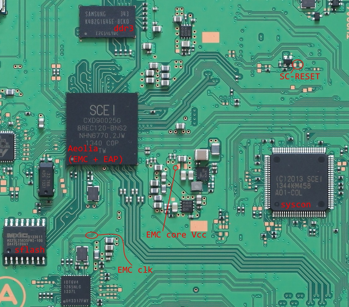 Fail0verflow Ps4 Aux Hax 1 Intro Aeolia Introduction To Electronic Components The Areas Of Interest For This Post Are Shown Here Overview